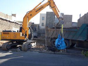 تخریب ساختمان خانه قدیمی